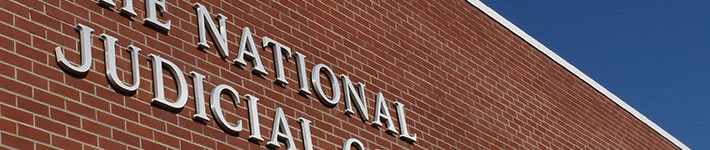 The National Judicial College sign