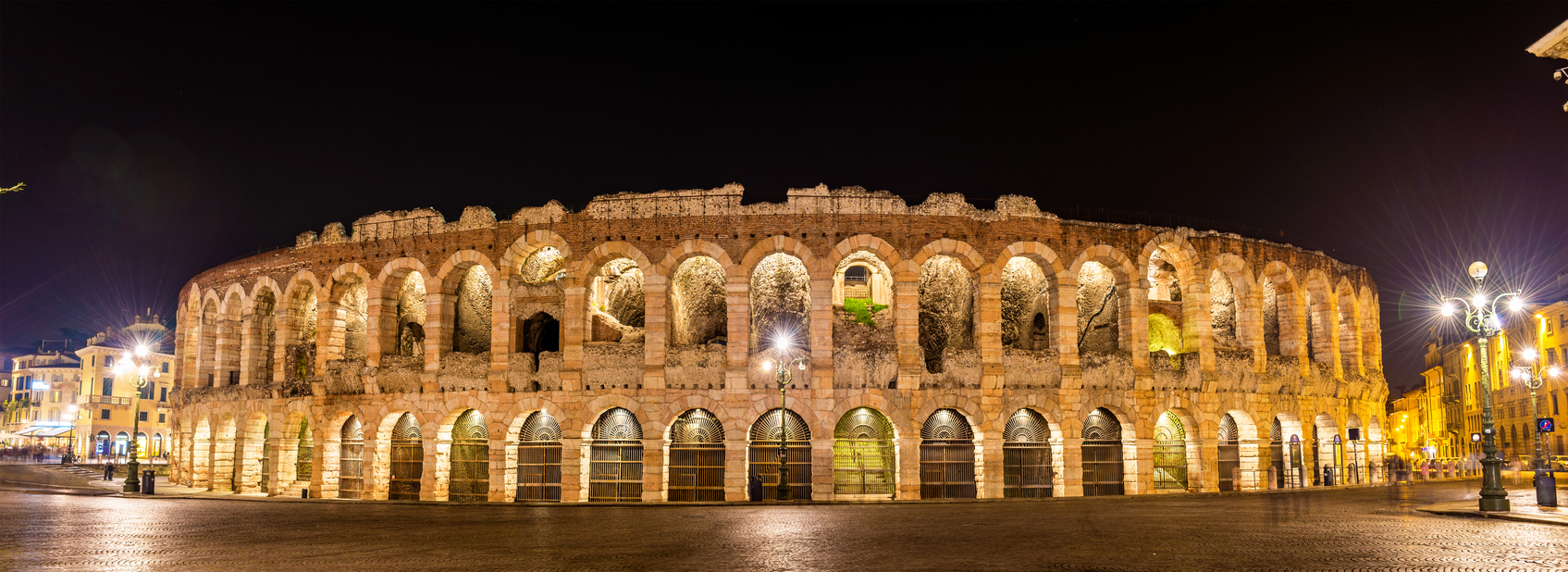 The Arena di Verona at night - Italy
