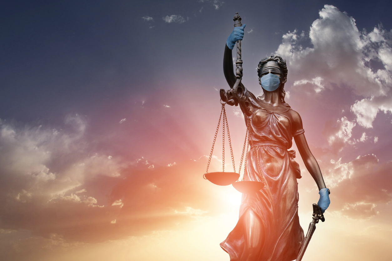 Concept of justice in corona days in world